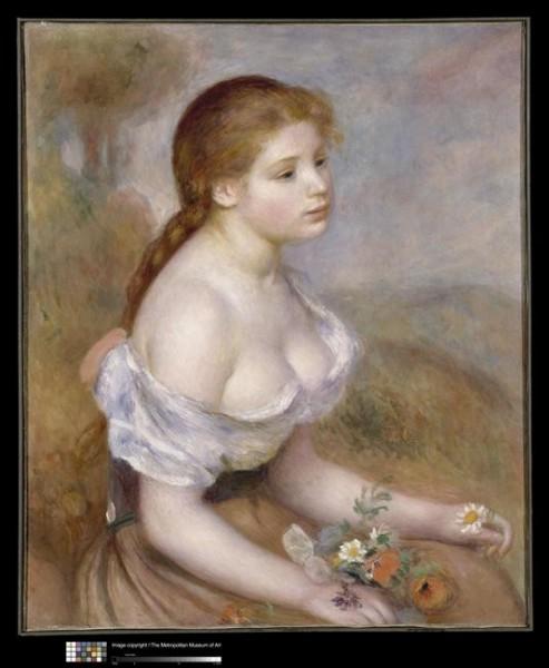 """Cette toile s'intitule """"Jeune fille aux pâquerettes"""", qui l'a réalisée ?"""