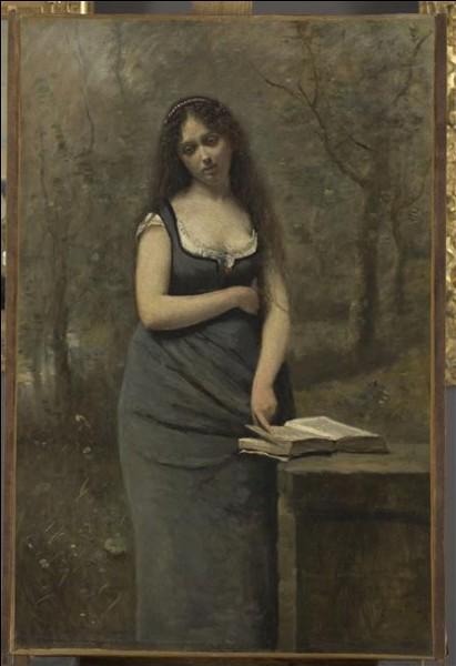 Qui a peint cette jeune femme qui arbore un joli décolleté ?