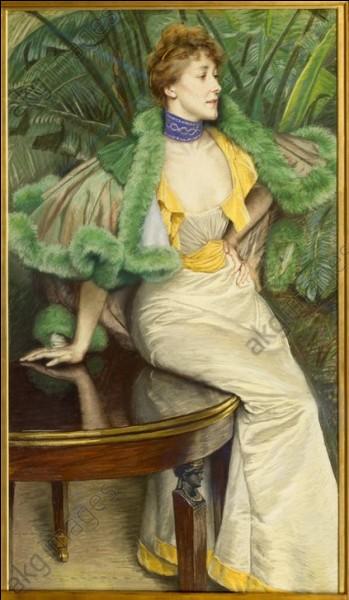 Beau décolleté aussi pour la princesse de Broglie, qui pose pour le peintre :