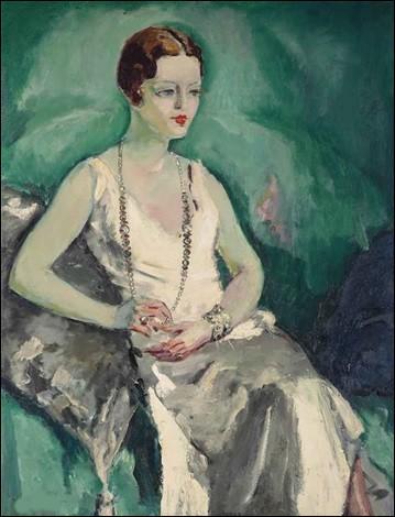 """Et on termine, en admirant le dernier décolleté de """"La Femme au collier de perle"""" du peintre :"""