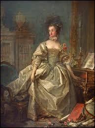 Voici Madame de Pompadour, la main sur le clavier, qui pose pour :