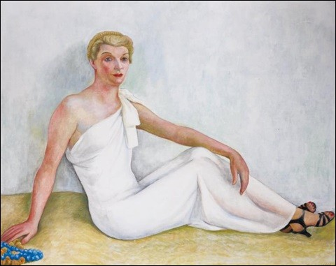 """Joli décolleté sur ce tableau intitulé """"Portrait de femme"""", et signé par :"""