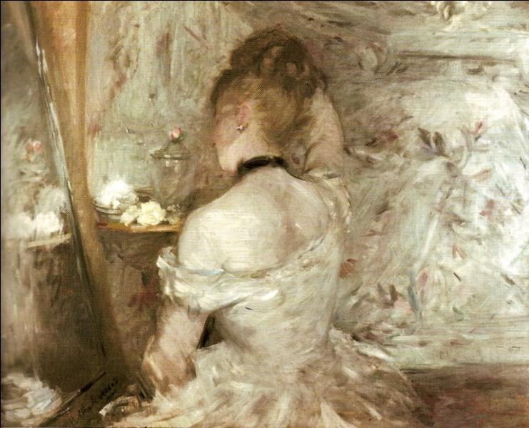 """Décolleté dans le dos sur cette toile intitulée """"La Toilette"""", et réalisée par l'artiste :"""