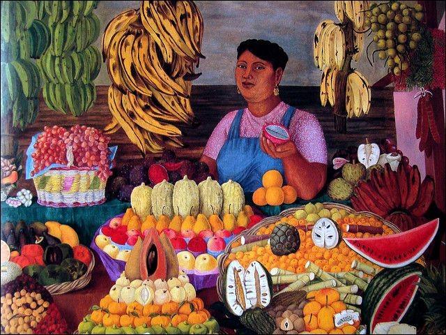 """Qui a fait la peinture de """"La Marchande de fruits"""" ?"""