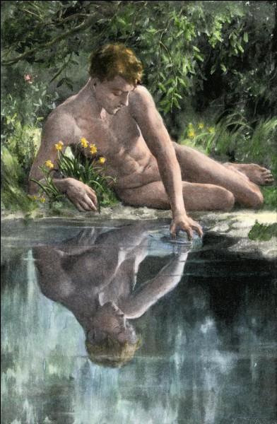 D'une grande beauté, ce jeune chasseur de la mythologie grecque surprit son reflet dans l'eau et en tomba amoureux. Qui est-il ?