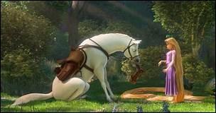 """Dans le dessin animé """"Raiponce"""", comment s'appelle le cheval blanc ?"""