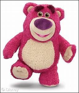 """Dans le dessin animé """"Toy Story"""", comment s'appelle l'ours en peluche violet ?"""