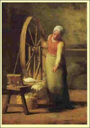 """Qui est le peintre de """"La Fileuse"""" ?"""