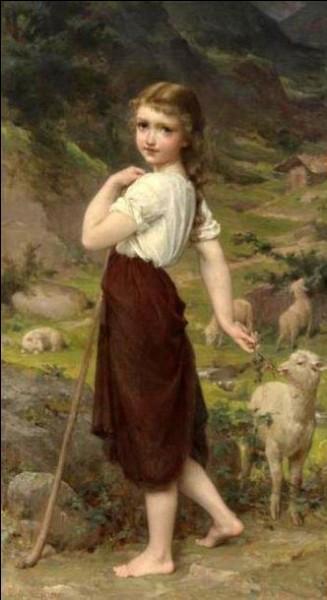 Qui a peint cette petite bergère ?
