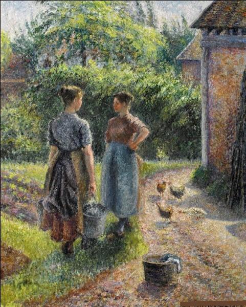 """Qui a peint """"Paysannes causant dans la cour d'une ferme"""" ?"""