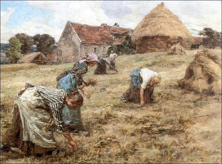 """Qui a peint ce tableau représentant """"Les Glaneuses"""" ?"""