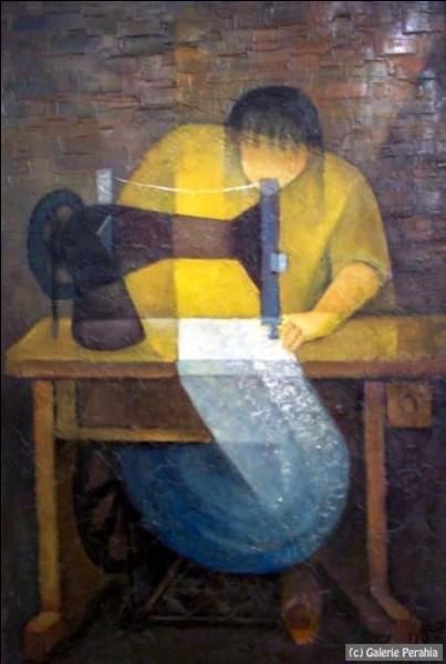 Voici une autre couturière, par le peintre :