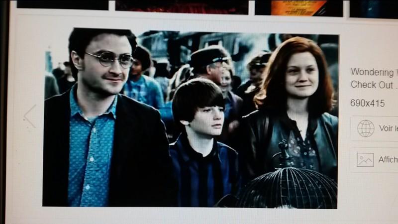 """À la fin des """"Reliques de la Mort, partie 2"""", on voit Harry Potter qui a des enfants avec..."""