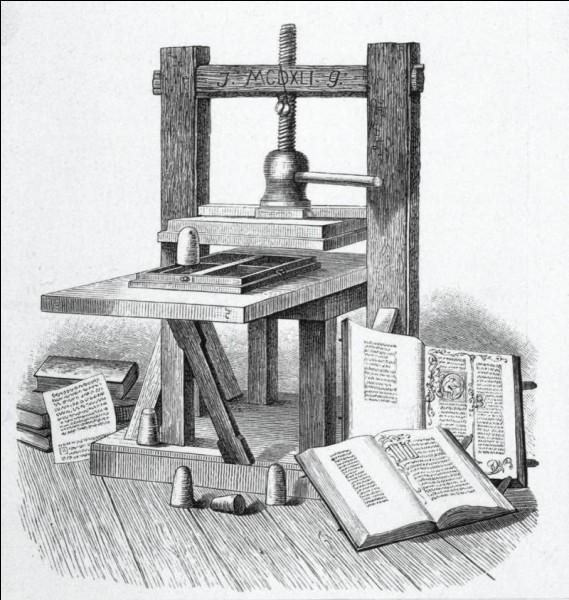 Qui a créé l'imprimerie ?