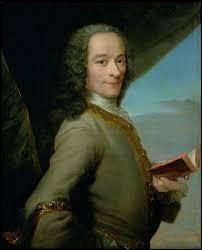 Le vrai nom de Voltaire est François-Marie Arouet.