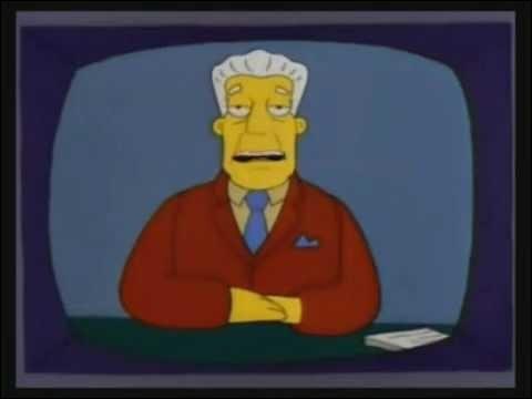 Pour quelle raison Kent Brockman a-t-il prononcé un gros mot à la télé ?