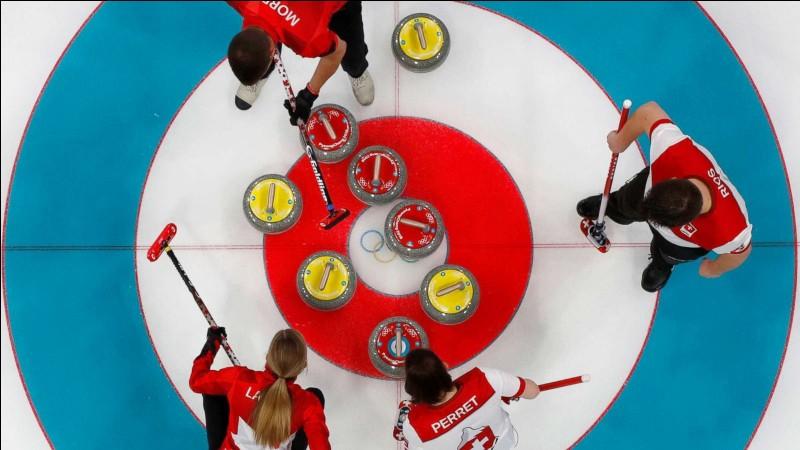 De quoi est composée la pierre utilisée pour jouer au curling ?