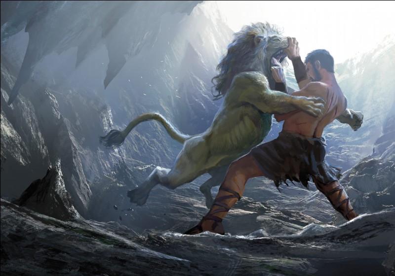 Avant d'avoir à affronté le lion de Némée, Héraclès combattit le lion de :