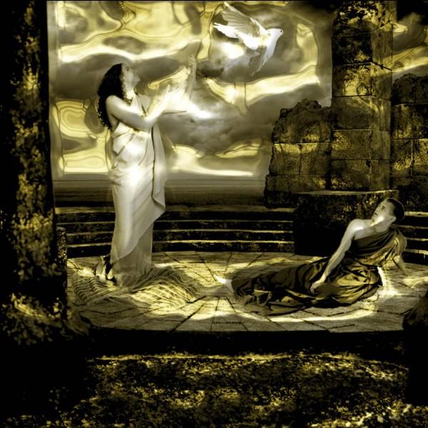 Jeune berger du mont Ida, eu un enfant avec une déesse, un fils nommé Énée. Qui sont-ils ?