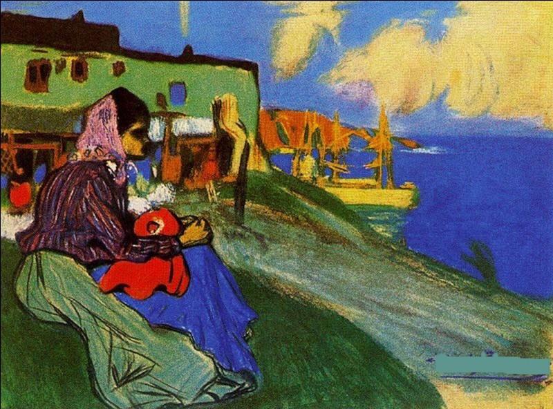 """Ce tableau représente """"Une fille bohémienne"""", de qui ai-je (très mal d'ailleurs) supprimé la signature ?"""