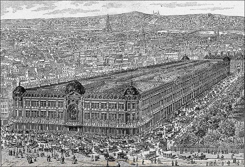 En 1880, Marguerite Boucicaut, patronne d'/de/du ...., lègue par testament la majorité de sa fortune à l'Assistance Publique et ... . (Complétez !)