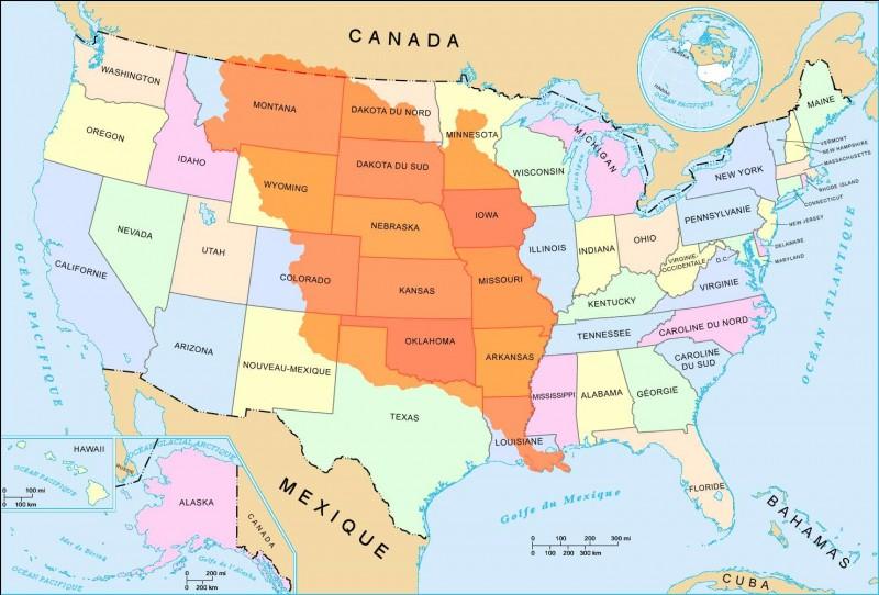 Qui vend la colonie française de Louisiane (en orange sur la carte) aux États-Unis en 1803 ?