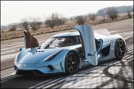 """Poursuivons avec une hybride scandinave. Cette Koenigsegg porte le nom de """"Régner"""". Quelle auto est-ce ?"""