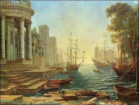 Il paraît que ce port fut fort agité, avant l'arrivée des gilets jaunes et de la RTT... Mais quel était ce tableau, avant tout cela ?