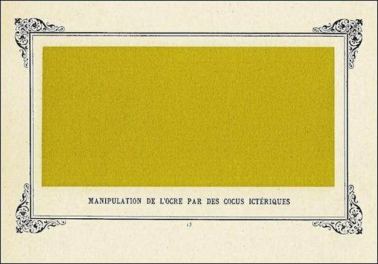 Pour un repos salutaire de vos belles mirettes, voici maintenant quelques tableaux monochromes d'Alphonse Allais. Mais sont-ils bien tous de lui ?