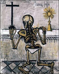 """Qui a peint """"Squelette en prière"""" ?"""