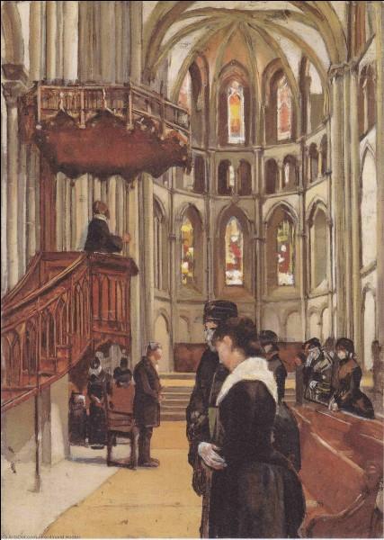 """Qui a peint """"La prière dans la cathédrale Saint Pierre à Genève"""" ?"""