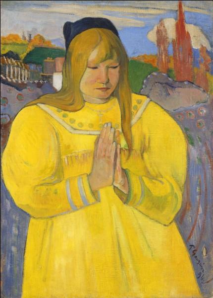 "Qui a peint ""Bretonne en prière"" ?"