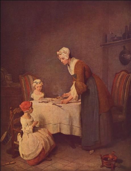 """Qui a peint """"Le bénédicité"""" ?"""
