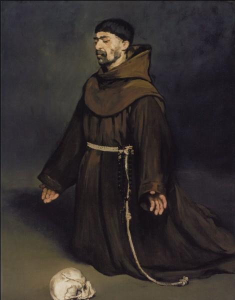 """Qui a peint """"Un moine en prière"""" ?"""