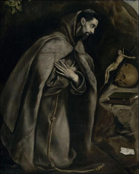 """Qui a peint """"Saint François en prière devant le crucifix"""" ?"""