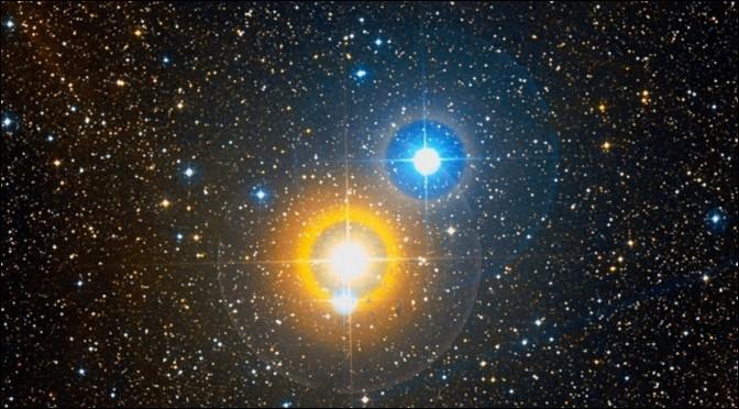 Comment appelle-t-on deux étoiles qui apparaissent à l'œil nu comme un point unique de lumière ?