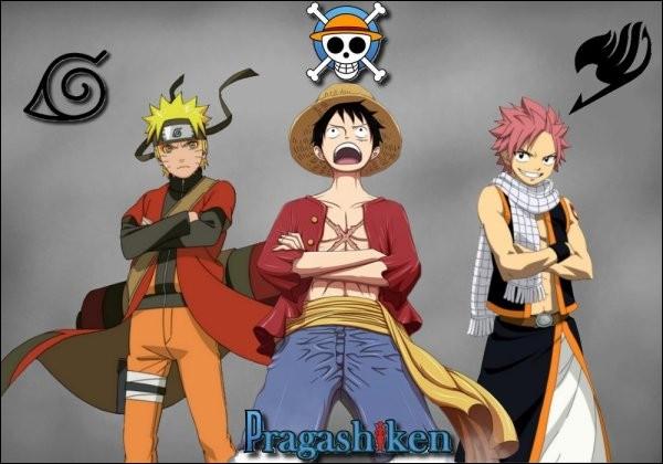 Laquelle de ces images ne représente pas un personnage de ces trois mangas très connus : Fairy Tail - One Piece - Naruto ?
