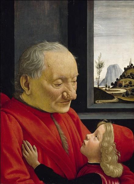 """""""Portrait d'un vieillard et d'un jeune garçon"""" est l'œuvre d'un peintre italien de la Renaissance. Lequel ?"""