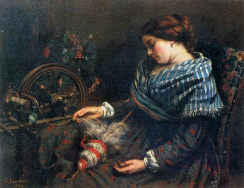 """À quel peintre réaliste français doit-on """"La Fileuse endormie"""" ?"""