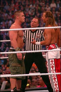 Qui a gagné à WM 23 John Cena ou HBK ?