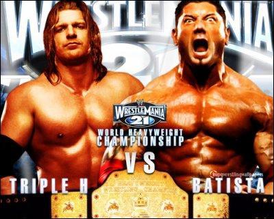 Qui a gagné a WM 21 Batista vs Triple H pour le titre ?