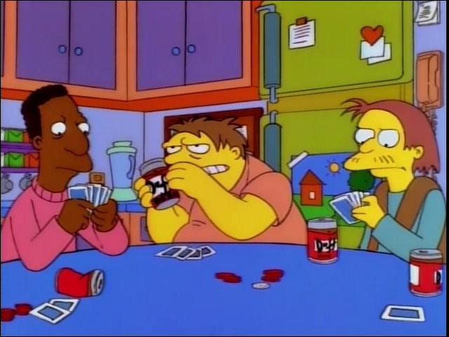 """Dans l'épisode """"The Springfield Connection"""" qui vend des jeans de contrefaçons à un certain Jerricho ?"""