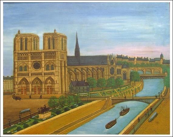 """À qui est la toile """"Paris Notre-Dame"""" ?"""