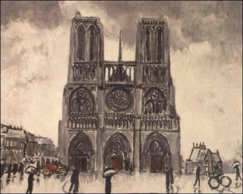 """Et voici une dernière toile de """"Notre-Dame de Paris"""" par l'artiste :"""