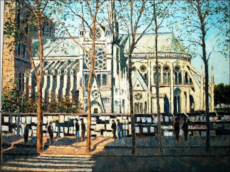 """Qui a représenté """"Notre-Dame de Paris et les bouquinistes"""" ?"""