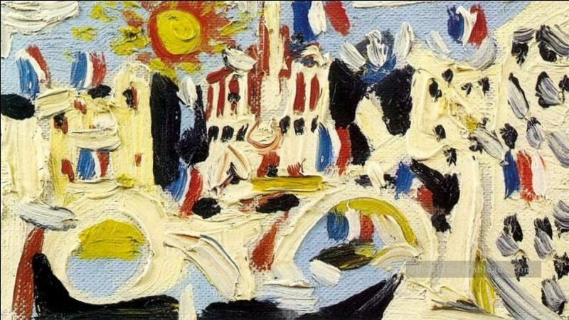 """Voici la """"Vue de Notre-Dame de Paris"""" par l'artiste :"""