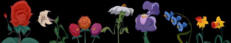 Les fleurs estiment savoir chanter, et chaque fleur veut y aller de sa chanson. La rose, chef de file de la bande, propose qu'elles interprètent une chanson qui parle de toutes les fleurs. Laquelle ?