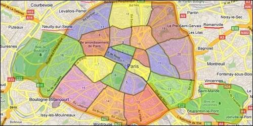 Combien la ville de Paris compte-t-elle d'arrondissements ?