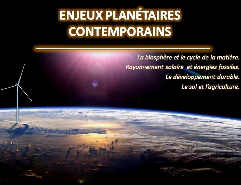 Enjeux planétaires contemporains