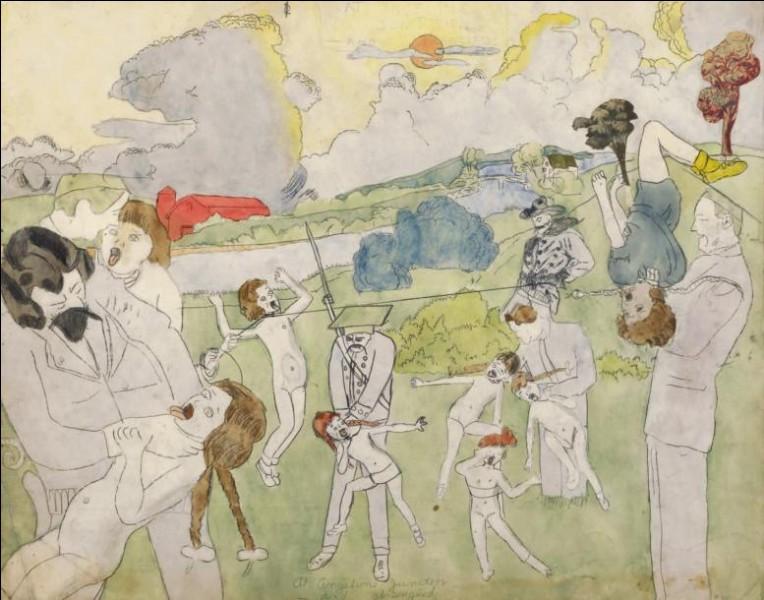 Les toiles d'Henri Darger (décédé en 1973) n'ont été découvertes qu'après sa mort. Quel était son métier, dans la vraie vie ?